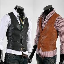 MEN`S LEATHER VEST, BLACK VEST FOR MEN, VEST FOR MEN, BLACK AND BROWN