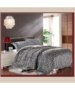 Silk Zebra Duvet Cover 4 Pc Bed Set King Queen Full Top Sheet & 2 Pillow... - $139.95+