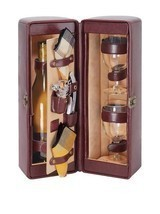 Picnic Time Single Bottle Wine Case, with Wine Service for two, Faux Lea... - $84.14