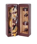 Picnic Time Single Bottle Wine Case, with Wine Service for two, Faux Lea... - £60.40 GBP