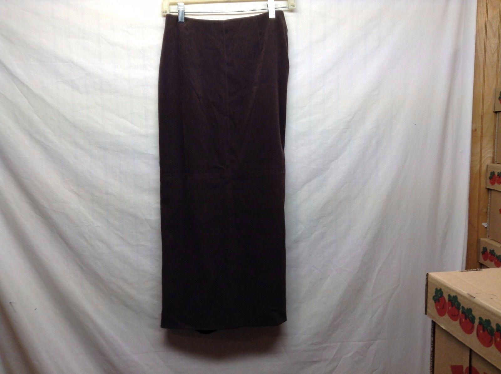 Talbots Petites Stretch Long Brown Skirt Sz 4