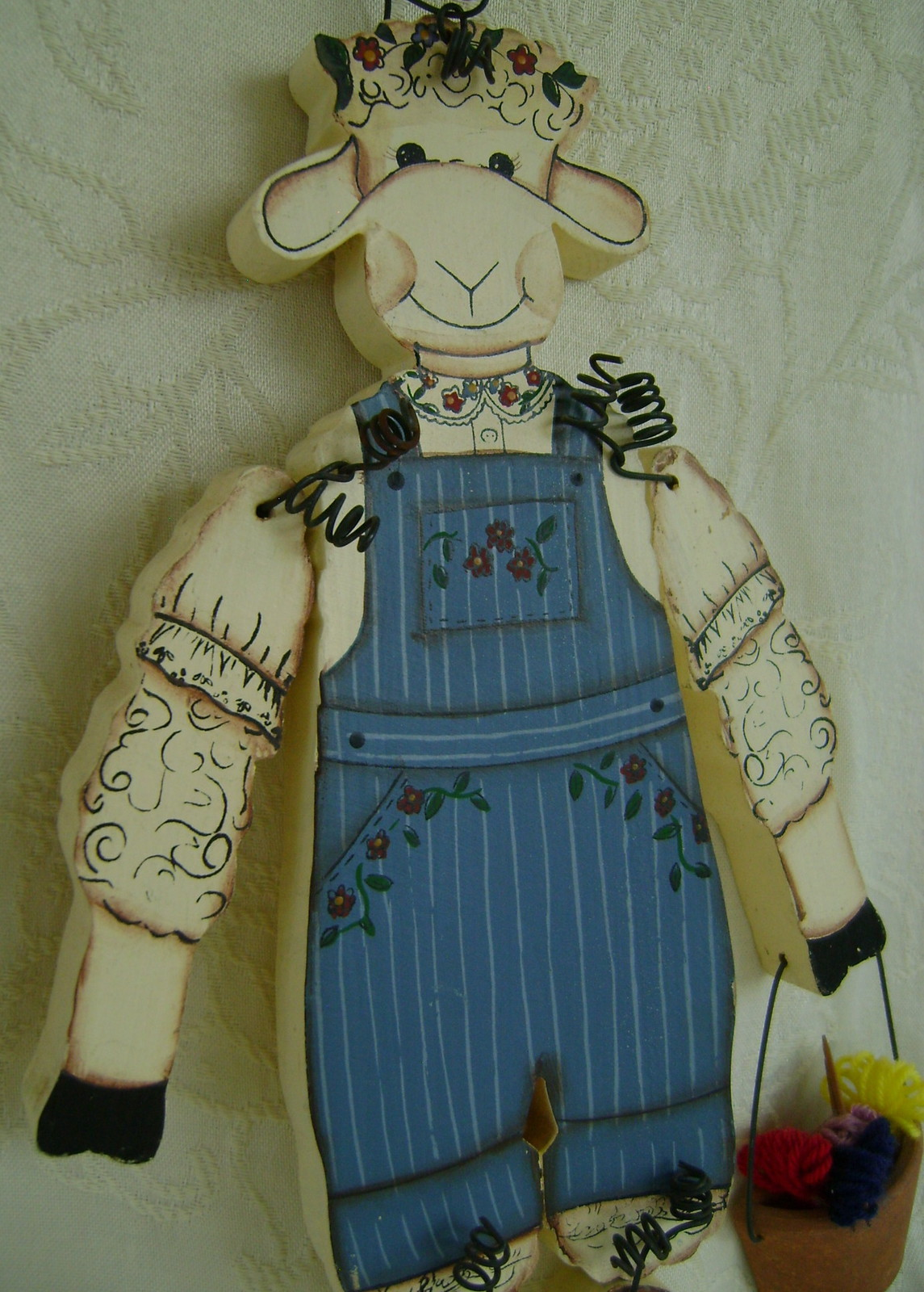 Miss Ewe is off for an afternoon of knitting & gossip