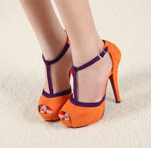 SH42009 Romanic scandal, suede Leather, size (2-6), Orange - $39.90