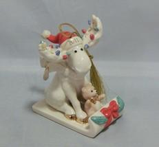 2011 Lenox Annual Ornament Merry Moosecapades  - $27.72
