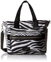 Marc Jacobs Zebra Printed Biker Babybag, Off White/Multi - ₨6,119.37 INR