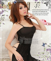 8080 Sexy halter sheer neck dress w thong & open back, g-string, ,Free size, fit - $22.80