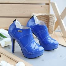 424s067 Plus Size stilette Bootie, patent leather Size (2 ~ 8 ), blue - $63.00