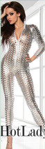 7117 Sexy erotic fish net jumpsuit in hollow type, fit to lady w high 16... - $54.00