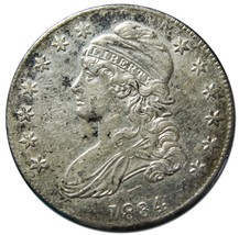 1834 Capped Bust Half Dollar 50¢ Coin Lot# EA 258
