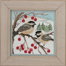 Chickadee 2013 Winter Series beaded button kit Mill Hill - $11.70