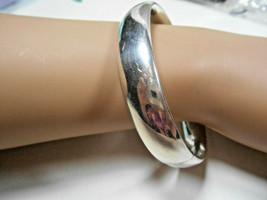 Tiffany & Co Sterling Silver Domed Wide Heavy Bangle Bracelet - $387.99