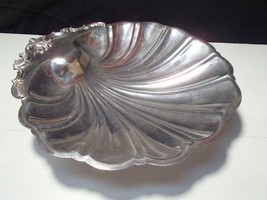 Vintage Ornate Shell Shaped F.B. Rogers 1824 Silver Plate Huge Serving Bowl - $19.95