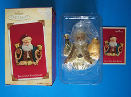 HALLMARK 2004 JOLLY OLD KRIS JINGLE Joyce Lyle ORNAMENTw/ BELLS NRFB - $2.97