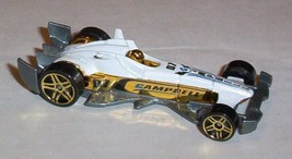 Hot Wheels 2007 Mystery Car 169 F-Racer WHITE PR5 gold wheels - $1.67