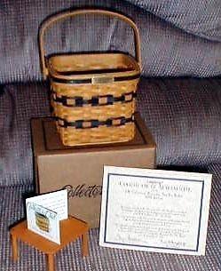 Longaberger 1999 JW Miniature 2 Pie Basket Plastic Protector Only New Authentic