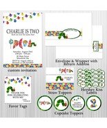 Hungry Caterpillar Party Package: Birthday, Baby Shower Personalized, In... - $28.00