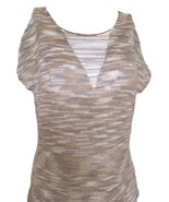 Beaded openwork sleeveless shirt with runners in front and back - $75.00