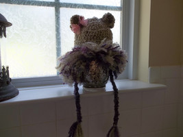BABY GIRL CUB LION HAT WITH MULTI-COLOR PURPLE MANE - $15.00