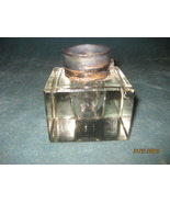 Crystal Inkwell with a Silver lid marked Cross  - $95.00
