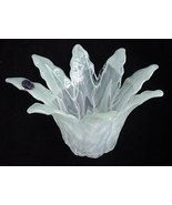 Old Lavorazione Arte Murano Italian Art Glass Ice Green Vase - $19.50