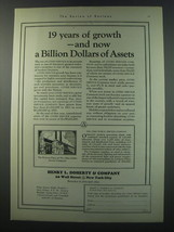 1930 Henry L. Doherty & Company Ad - 19 years of growth - $14.99
