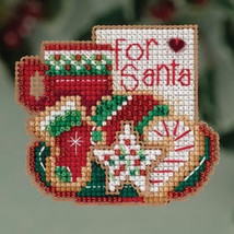 For Santa Winter Holiday 2013 Seasonal ornament pin kit cross stitch Mill H - $6.30