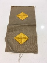 Original Wwii Officer Cut Edges Finance Department Insignia Khaki Uncut Patch - $2.99