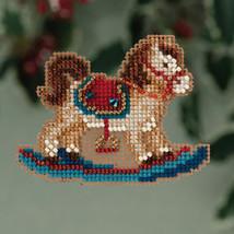 Rocking Horse Winter Holiday 2013 Seasonal ornament pin kit cross stitch Mill H - $6.30