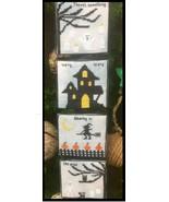 Scary Wind halloween chart cross stitch kit chart Needle Bling Designs  - $8.00