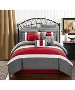 Chic Home Pisa 16 Piece Bed in a Bag Comforter Set, Queen, Red - $271.00