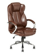 High Back PU Leather Executive Office Desk Task Computer Chair w/Metal Base - $84.99