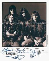 THE RAMONES AUTOGRAPHED 8x10 RP PHOTO CJ MARKY JOHNNY JOEY RAMONE - $14.39