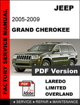 JEEP GRAND CHEROKEE 2005 2006 2007 2008 2009 FACTORY SERVICE REPAIR FSM ... - $14.95