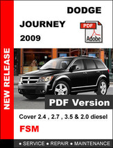 DODGE JOURNEY 2009 FACTORY SERVICE REPAIR OEM WORKSHOP SHOP FSM MANUAL - $14.95