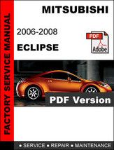 MITSUBISHI ECLIPSE 2006 2007 2008 FACTORY OEM SERVICE REPAIR WORKSHOP FS... - $14.95