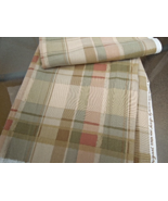 """2 1/2 Yd x 56"""" MidWeight Drapery /Upholstery Fabric- Checked Muted Tones... - $8.99"""