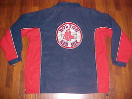 MLB Boston Red Sox Navy Blue Full Zip / Hood Polyuretane Jacket XL Free ... - $69.29