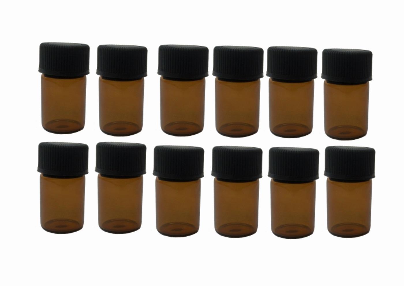 12 glass bottles on white