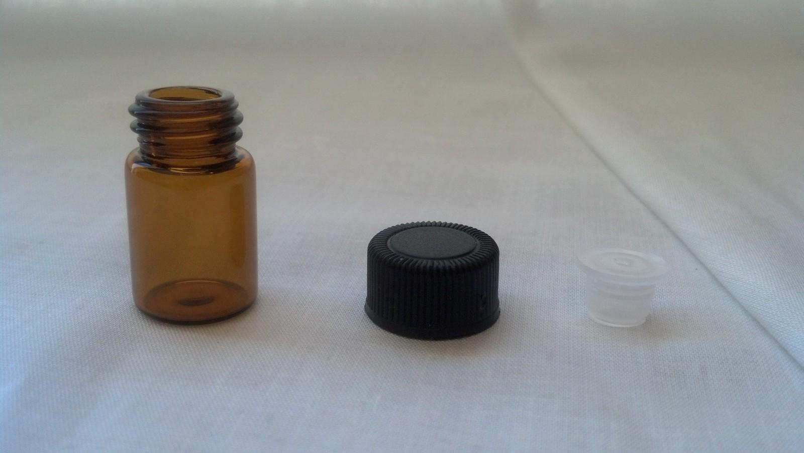 Essential Oil Amber Glass Vials-50 ct- 2ml (5/8 dram) bottles w/Orifice Reducers