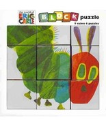 The World of Eric Carle The Very Books Block Puzzle Mudpuppy 9 Cubes 6 P... - $7.90