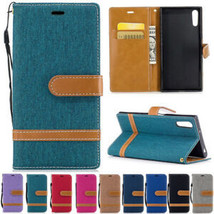 For Sony Xperia XZ XZ1 XA1 Magnetic Flip Leather CANVAS Wallet Card Case Cover - $61.81