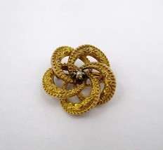 Victorian 10k Gold Repouse Swirl Pin Brooch - $153.45