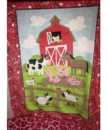 Izzy Farntasia Nursery Throw Blanket Country Horse Cow Barn Sheep Farm P... - $24.99