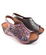 Bonavi Europe 27/ 324 Leather Slingback Wedge Open Toe Sandals Choose Sz... - $111.20
