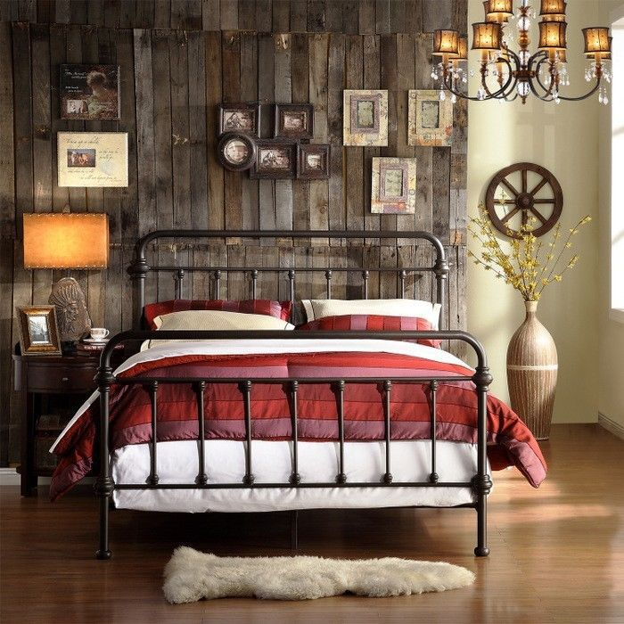 FULL Metal Bed Frame Antique Dark Bronze Victorian Size Bedroom Vintage Iron