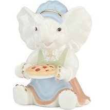 Lenox Thanksgiving Elephant Figurine Lucky Pilgrim Pie Baker NEW IN BOX - $27.45