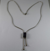 .925 RHODIUM SILVER NECKLACE WITH PURPLE CRISTAL image 2