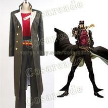 JoJo's Bizarre Adventure Jotaro Kujo Cosplay Costume Halloween Suit Trench  Coat - $68.99+