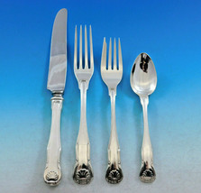 King by Kirk Stieff Sterling Silver Flatware Set Service 48 Pieces Shell Motif - $2,850.00
