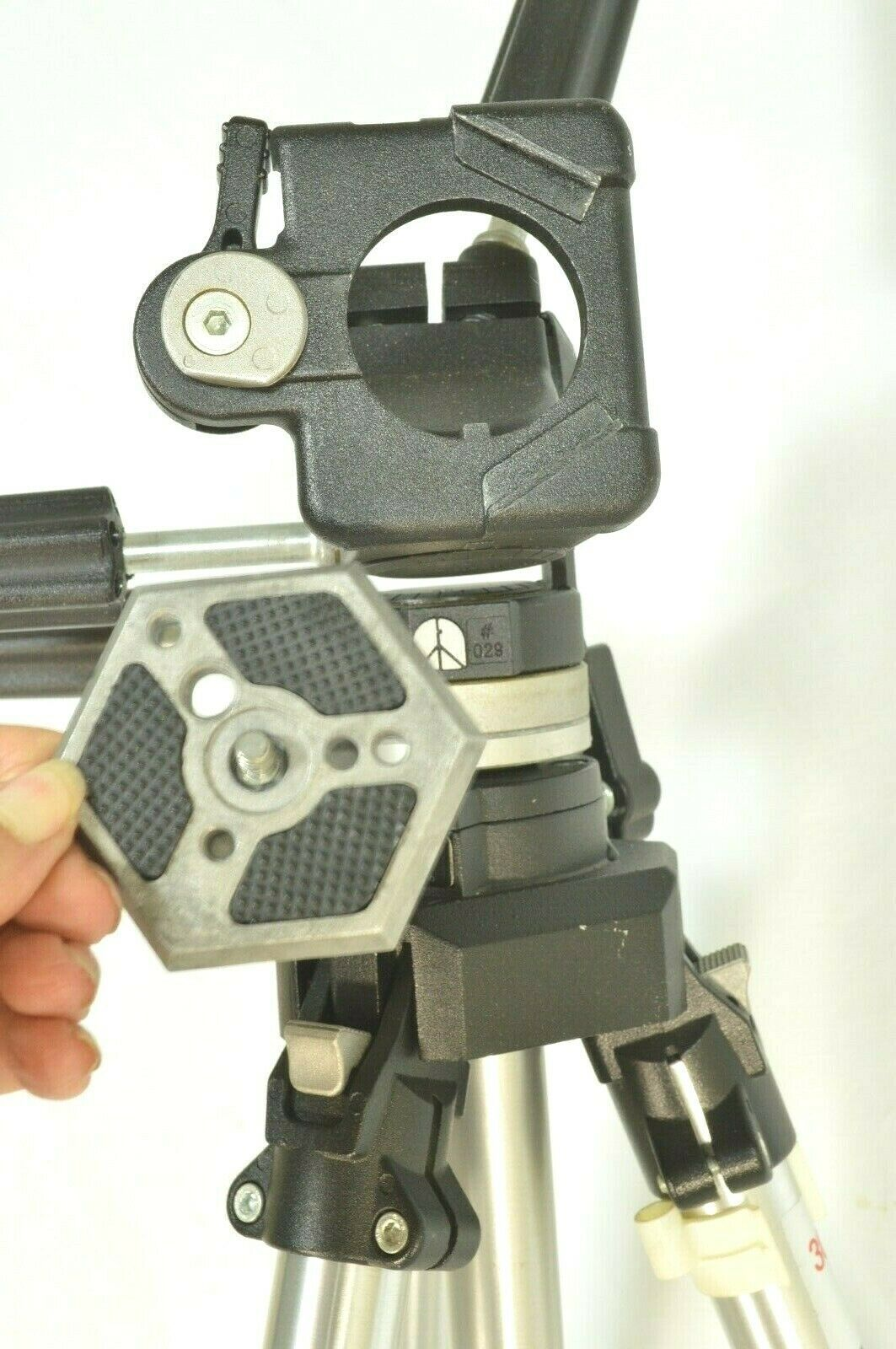 Manfrotto Bogen 3021 pro camera tripod +3047 Deluxe 3-way Pan/tilt Head image 7